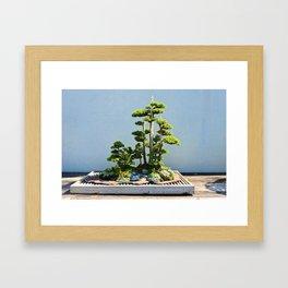Forest Island Framed Art Print