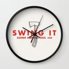 Swing it - Zombie Survival Tools Wall Clock