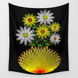 String Art Flowers Wall Tapestry