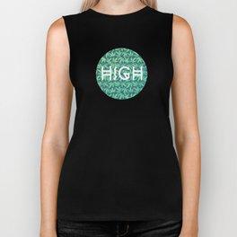 Cannabis / Hemp / 420 / Marijuana  - Pattern Biker Tank