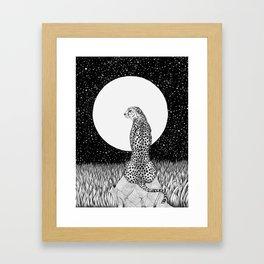 Cheetah Moon Framed Art Print