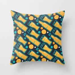 October Fest Pattern Throw Pillow