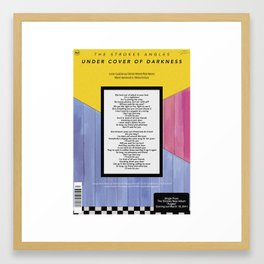 The Strokes Under Cover of Darkness Framed Art Print