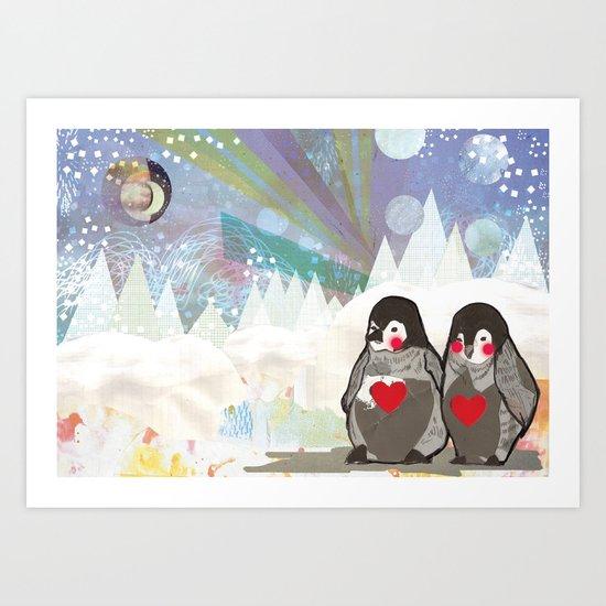 Baby Penguins Art Print