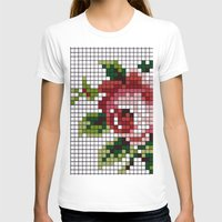 shabby chic T-shirts featuring Shabby Chic Rose by Alisa Galitsyna