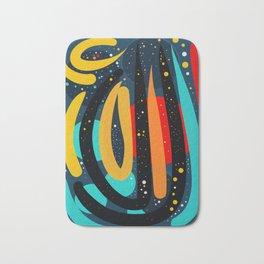 Starry Night of Summer Abstract Art Bath Mat