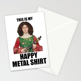 Funny Metal T-shirt Renaissance Parody T-shirt Stationery Cards