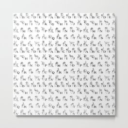 Sign Language Metal Print