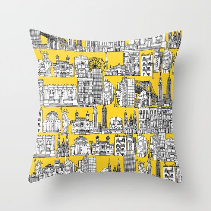 New York yellow Deko-Kissen