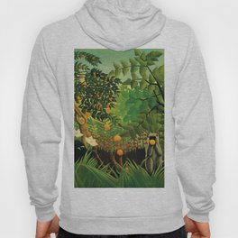 "Henri Rousseau ""Monkeys in the jungle - Exotic landscape"" Hoody"