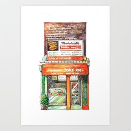 Sydney classic #8: Marrickville pork roll Art Print