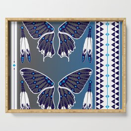 Butterfly Nation Blue Serving Tray
