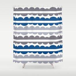 Mordidas Lapis Blue Shower Curtain
