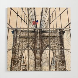 Brooklyn Brigde New York City ArtWork Paint Wood Wall Art