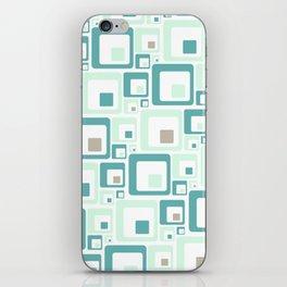 Retro Squares Mid Century Modern Background iPhone Skin