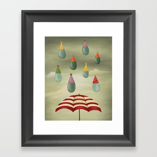 Rain Party Framed Art Print
