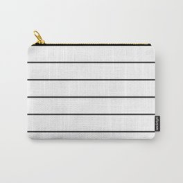 SKINNY STRIPE ((black on white)) Carry-All Pouch
