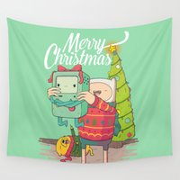 bmo Wall Tapestries featuring Adventure Christmas Time by Daniel Mackey