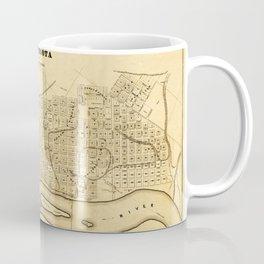 Map Of Saint Paul 1852 Coffee Mug