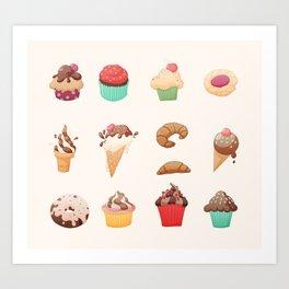 Desserts Art Print