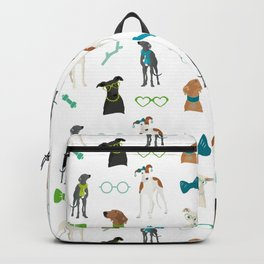 Sighthounds Pattern Green Backpack