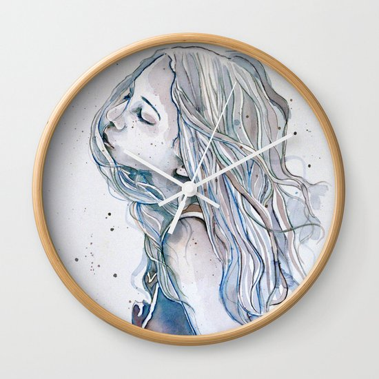 Breeze (variant II), watercolor painting Wall Clock