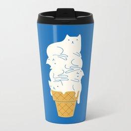 Cats Ice Cream Metal Travel Mug
