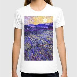 Lavender Fields with Rising Sun by Vincent van Gogh T-shirt