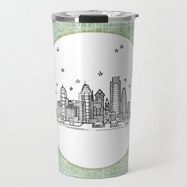 Philadelphia, Pennsylvania City Skyline Illustration Drawing Travel Mug
