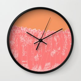 Last to Remain version 3 Sunset Wall Clock