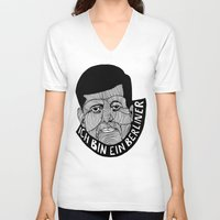 jfk V-neck T-shirts featuring JFK by The Ceza