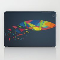 surfboard iPad Cases featuring Surfboard abstract triangle by frap231