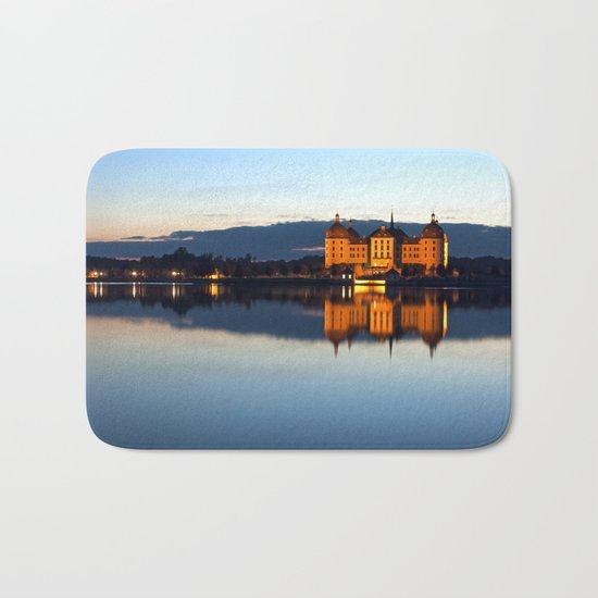 Fairy tale Castle - Moritzburg blue hour Bath Mat
