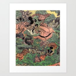 Mu Guai and the Tiger's Eye, Panel 6 Art Print