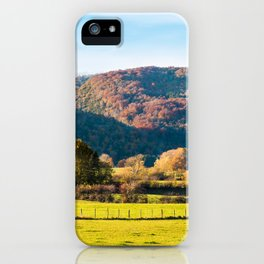 Autumn landscape with mountains in Rhone-Alpes iPhone Case