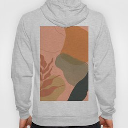 Terra abstract shapes and plants I Hoody