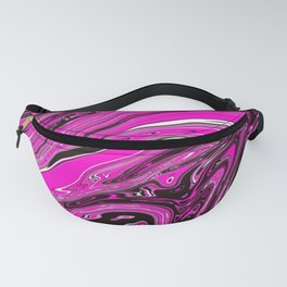 Pink and black swirl Fanny Pack