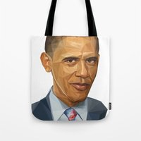 obama Tote Bags featuring Obama 2012 by HOPE 4 MORE