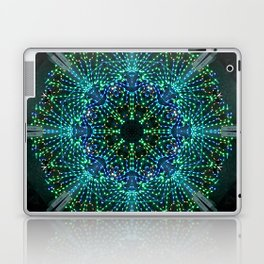 Kaleidoscope fantasy on lighted peacock shape Laptop & iPad Skin