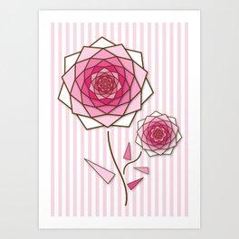 Crystal Flower 3 Art Print