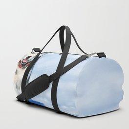 Siberian Husky pup Duffle Bag