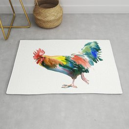 Rooster decor art Rug