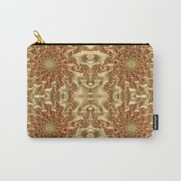 Swirls of Gold Metallic Leaves Fractal Abstract Carry-All Pouch
