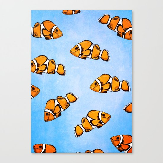Clownfish Pattern Canvas Print