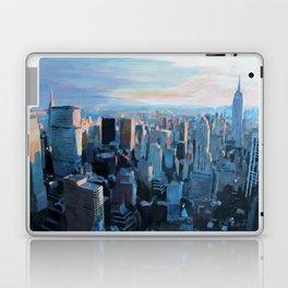 New York City - Manhattan Skyline in Warm Sunlight Laptop & iPad Skin