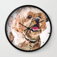 simba Wall Clocks featuring Simba The Shih Tzu by Maritza Hernandez