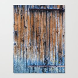 Old Wood Door Canvas Print