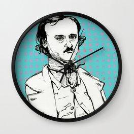 Edgar Allan Poe Wall Clock
