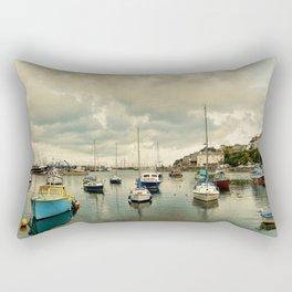 Brixham harbor  Rectangular Pillow