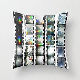 Film Strips From Outer Space Throw Pillow